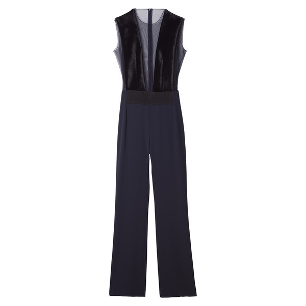 GP's Navy & Velvet Jumpsuit