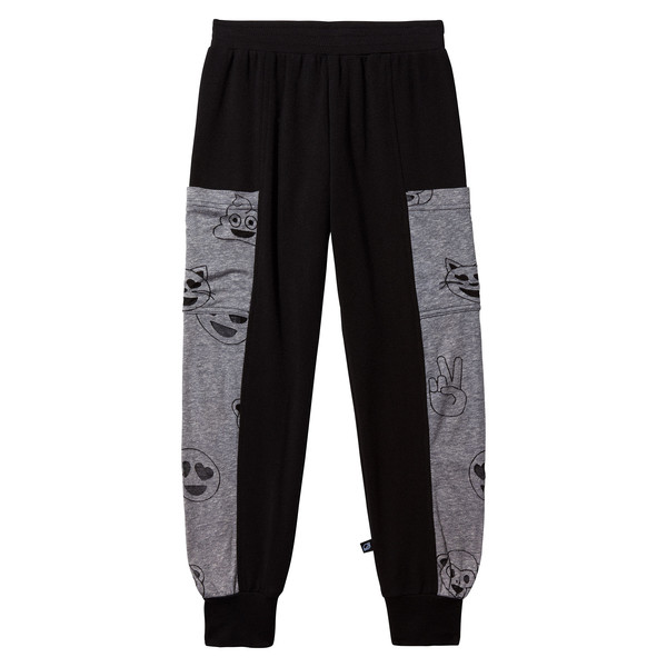 Grey Emoji Side Panel Sweatpant