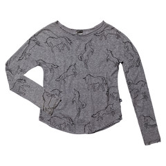 Grey Unicorn Long Sleeve Burnout