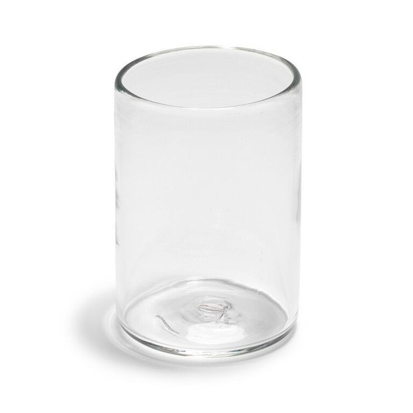 ANDREW O. HUGHES Hand-Blown Clear Tumbler