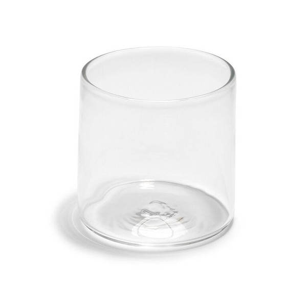 Hand-Blown Double Old Fashion Clear Glass