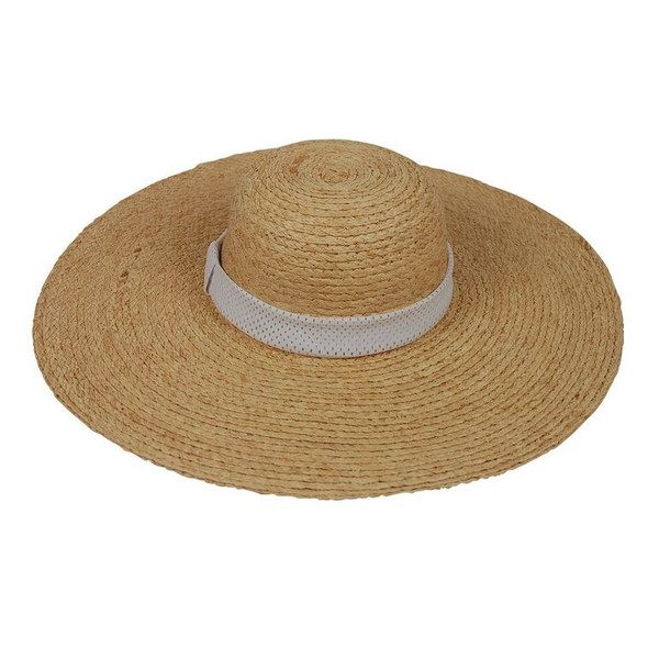 Hat With White Mesh Band
