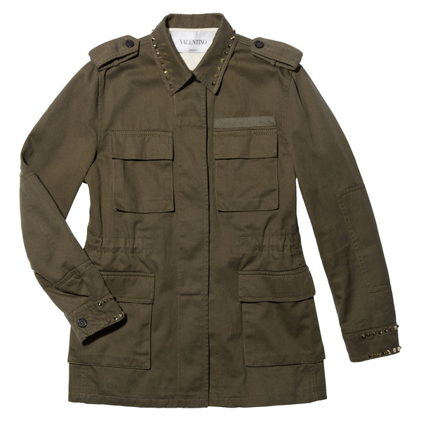 Jacket With Patch Pocket And Stud Detail
