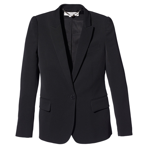 Jacket with Rounded Shoulder Detail