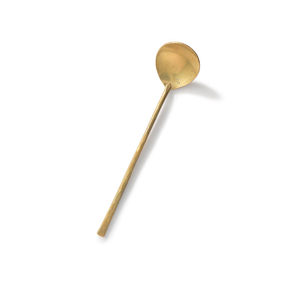 Japanese Brass Hors D'Oeuvre Spoon