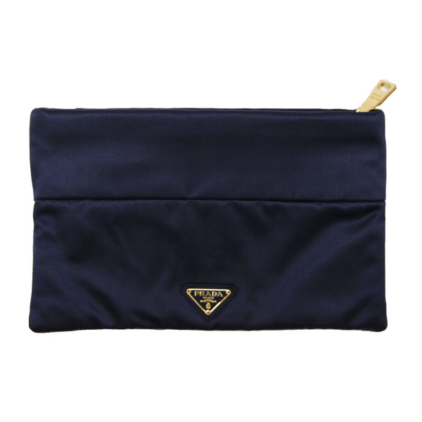 Jennifer Meyer's Navy Silk Clutch