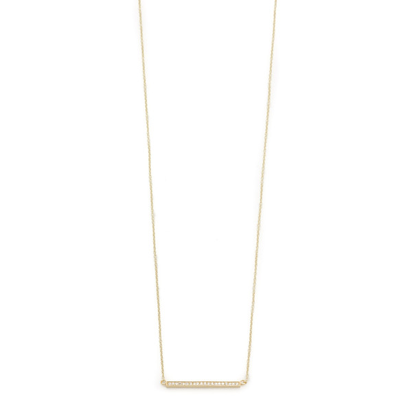 Jennifer Meyer's YG Diamond Stick Necklace