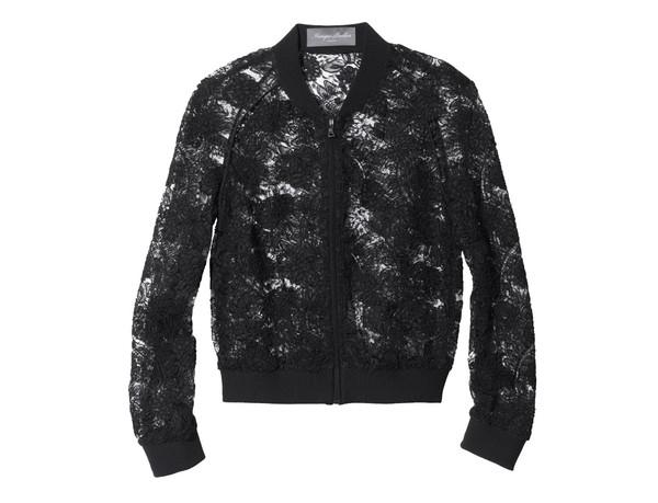 lace bomber jacket