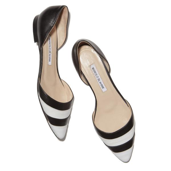 Lena Dunham's Black & White Striped Flats