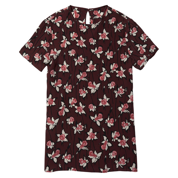 Lena Dunham's Maroon Flower Top