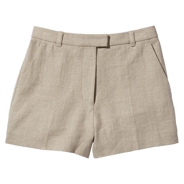 Linen Cotton Flat Front Shorts