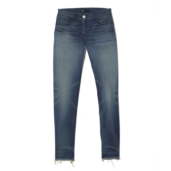 mid-rise crop fray skinny