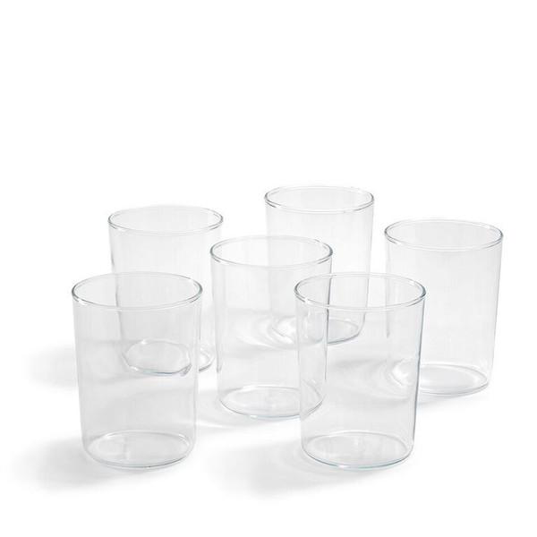 Narrow German Glass Cup Set of 6