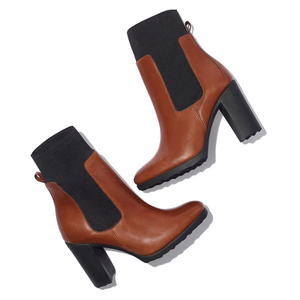 new casual leather ankle boot