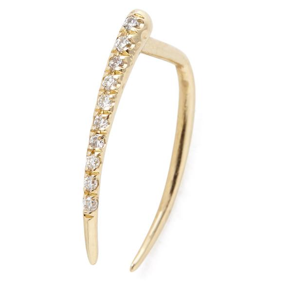 pave infinite tusk earring