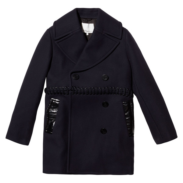 Peacoat With Lace Bodice