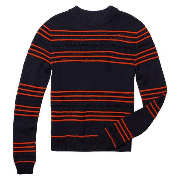 Pintuck Crewneck Pullover