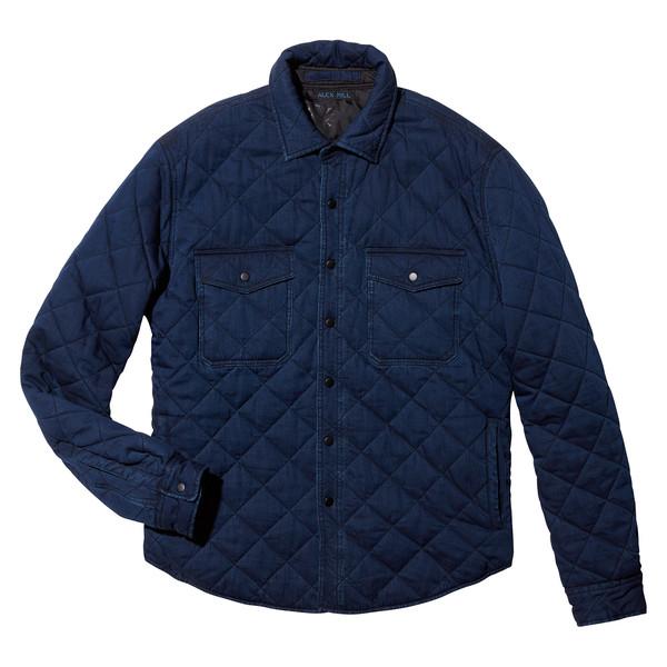 Quilted Indigo Shirt-Jacket
