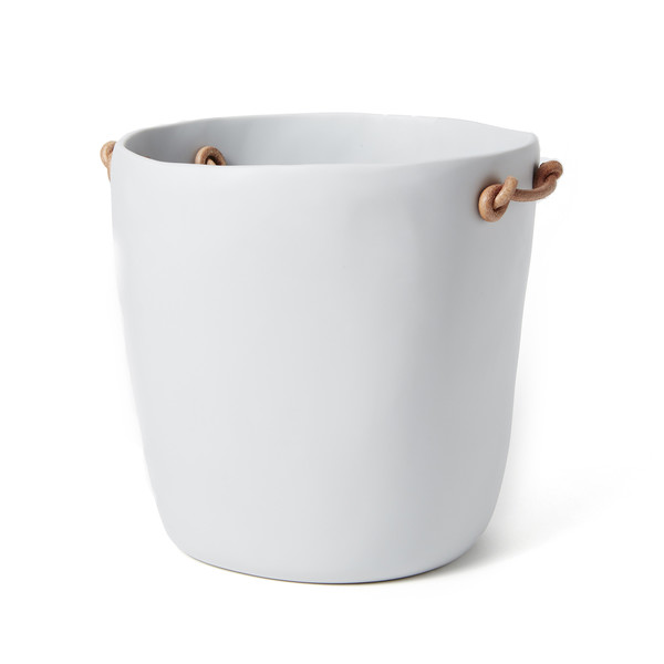 Resin Ice Bucket With Leather Handles