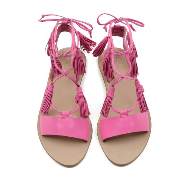 Saffron Lace Up Flat Sandal