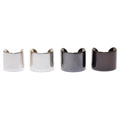 silver ombre ring set