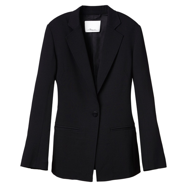 Slimming Blazer With Curved Seamline