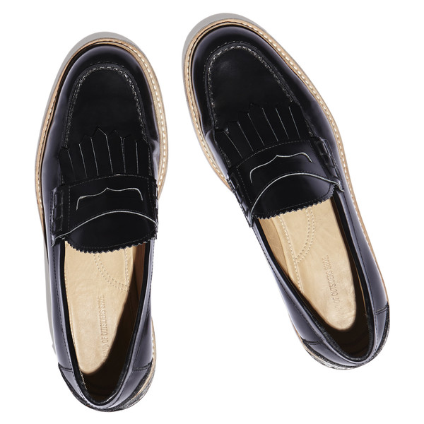slipped heel penny loafer
