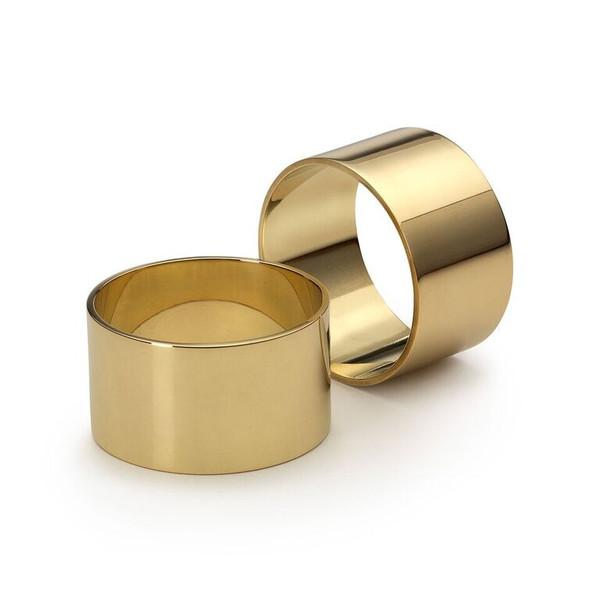 SKULTUNA Solid Brass Napkin Rings
