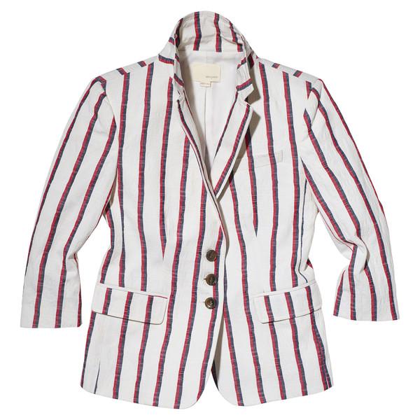 stripe schoolboy blazer