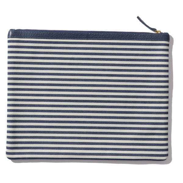 Striped Laia Clutch