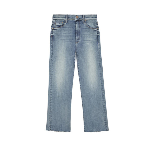 The Roller Crop Fray Jeans