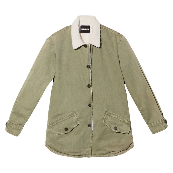 Vegan-Shearling Shirt Jacket