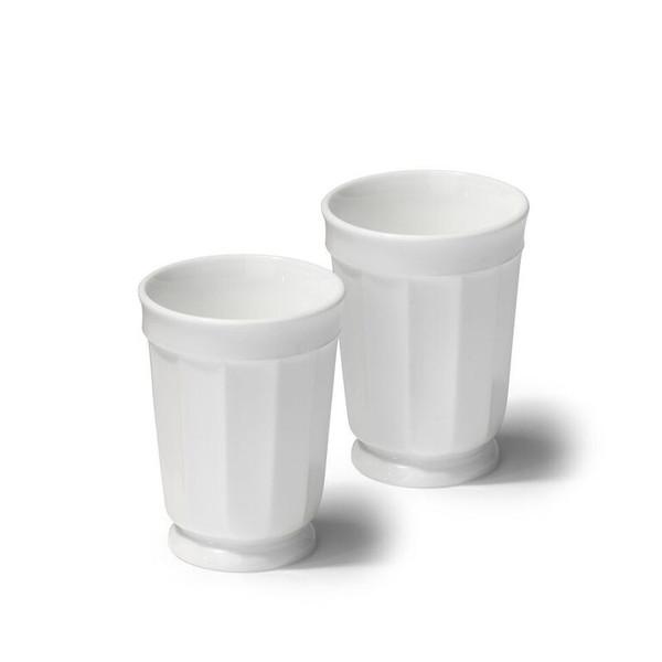 White Glass Tumbler Set of 4