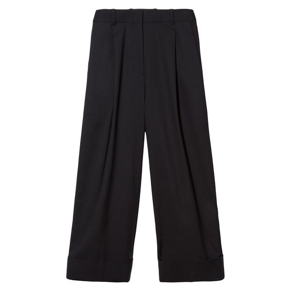 Wide-Leg Cropped Pant