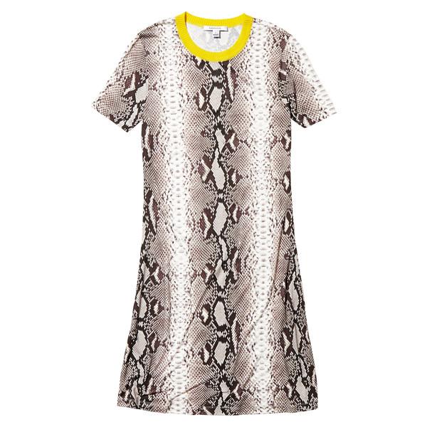 yellow collared snake dress