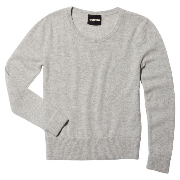 Cashmere Crew Neck Sweatshirt Heather Grey