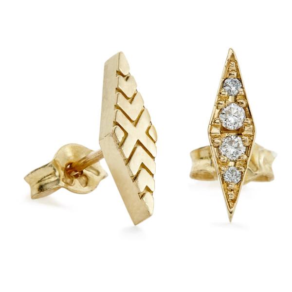 diamond flip studs