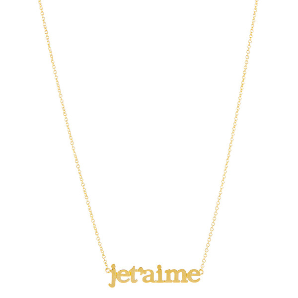 Jet'aime Necklace Yellow Gold