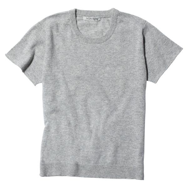 knit tee Grey