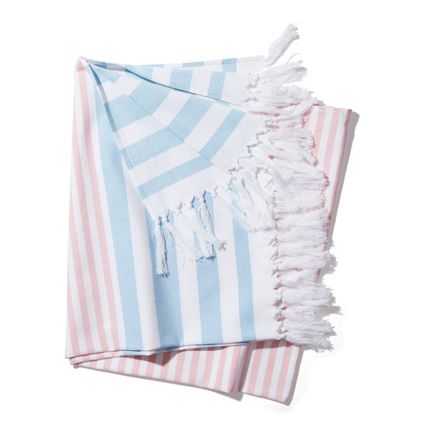 Milas Towel French Blue Coral