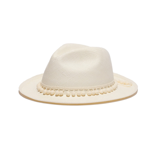 Panama Classic Hat with Pompom Band