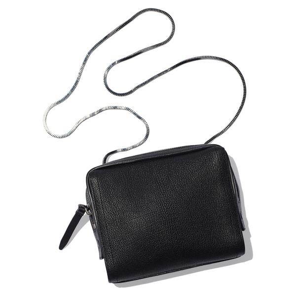 soleil mini zip cross body bag Black