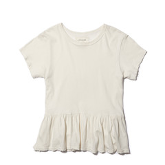The Ruffle Tee Washed White