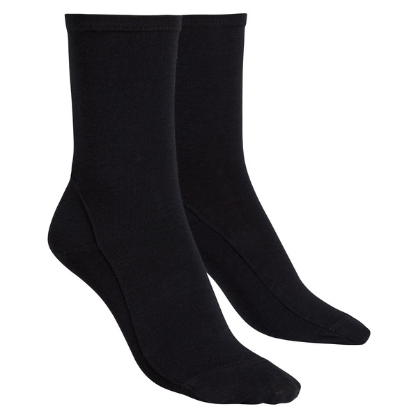 Opaque Bamboo-Cotton Socks Black