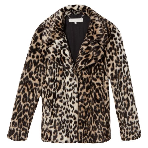 Cropped Leopard Coat