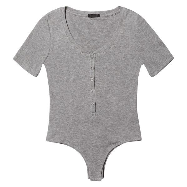 V-Neck Henley Bodysuit