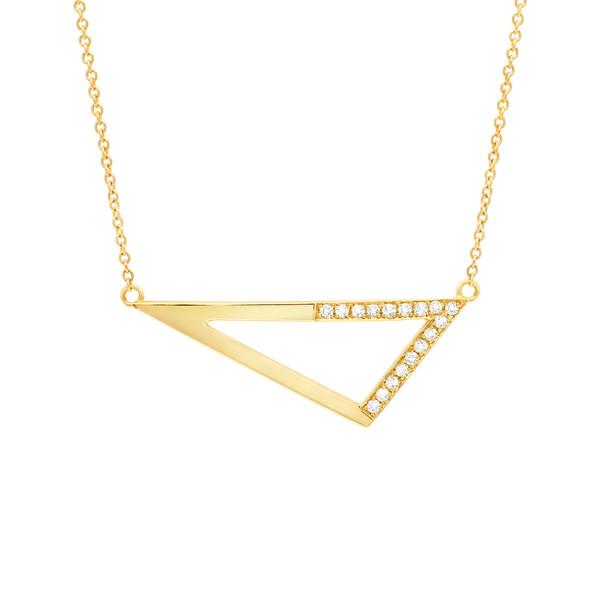 Medium Triangle Diamond Necklace