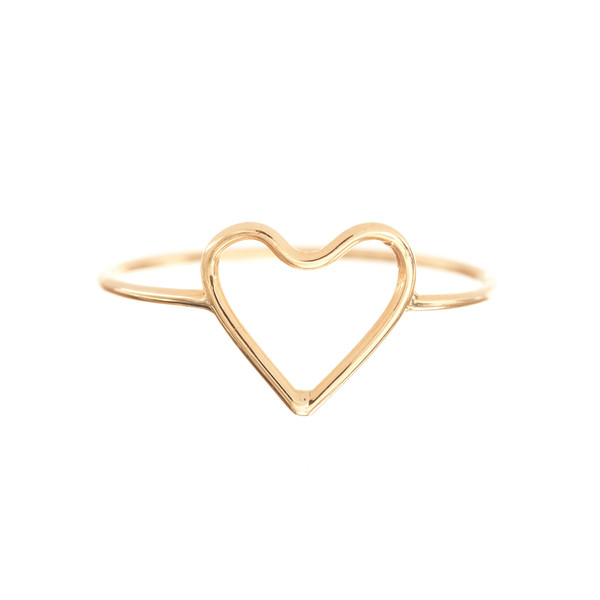 Silhouette Heart Ring