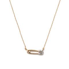 Super-Tiny Pavé Safety Pin Necklace