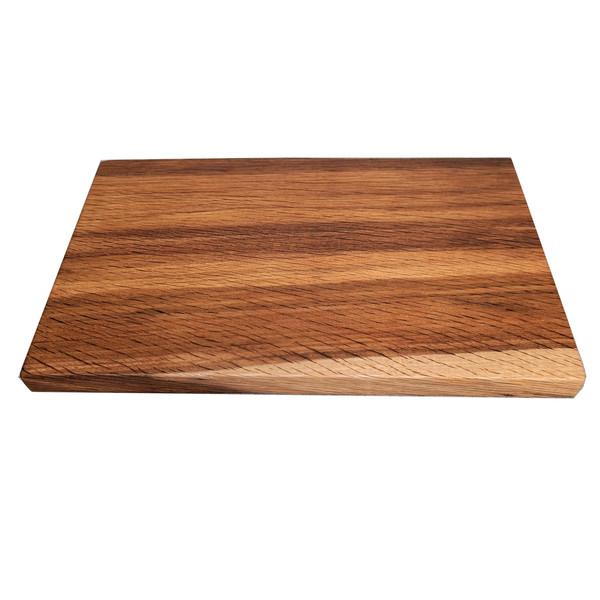 THE WOODEN PALATE Fumed Oak Slab Cutting Board